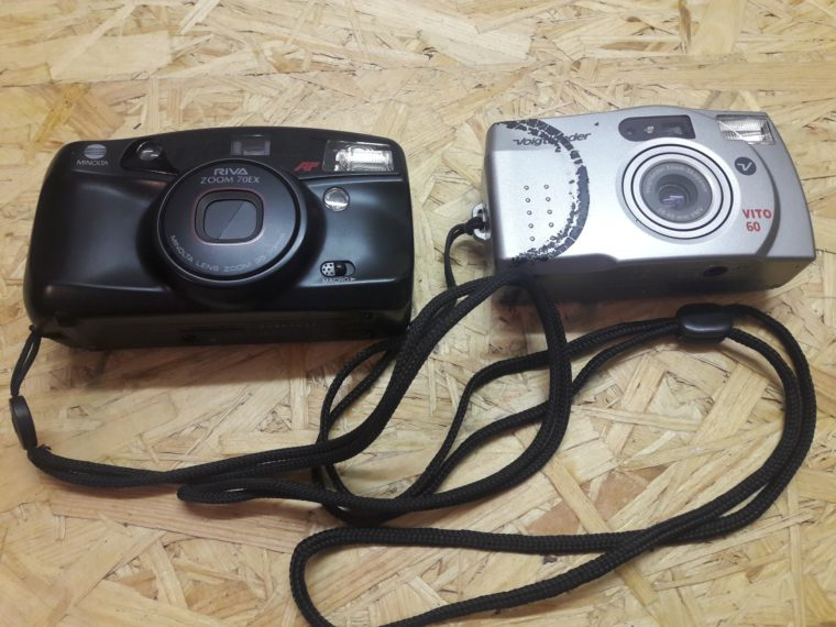Fotoaparáty Minolta Riva a Voigtlander Vito 60